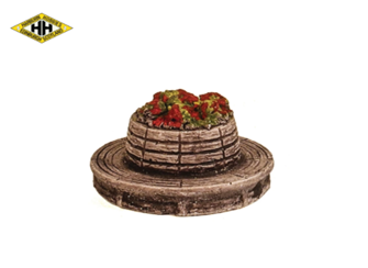 Circular Seat Unit with Floral Centre