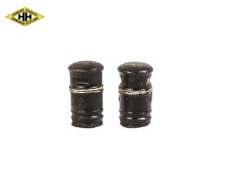 Round Litter Bin (black/gold)