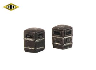 Square Litter Bin (black/gold)