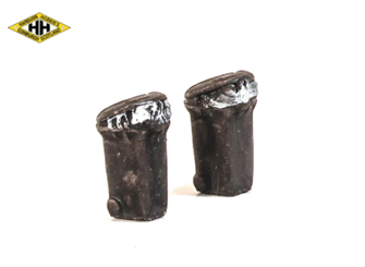 Wheelie Bins - (overfilled/black)