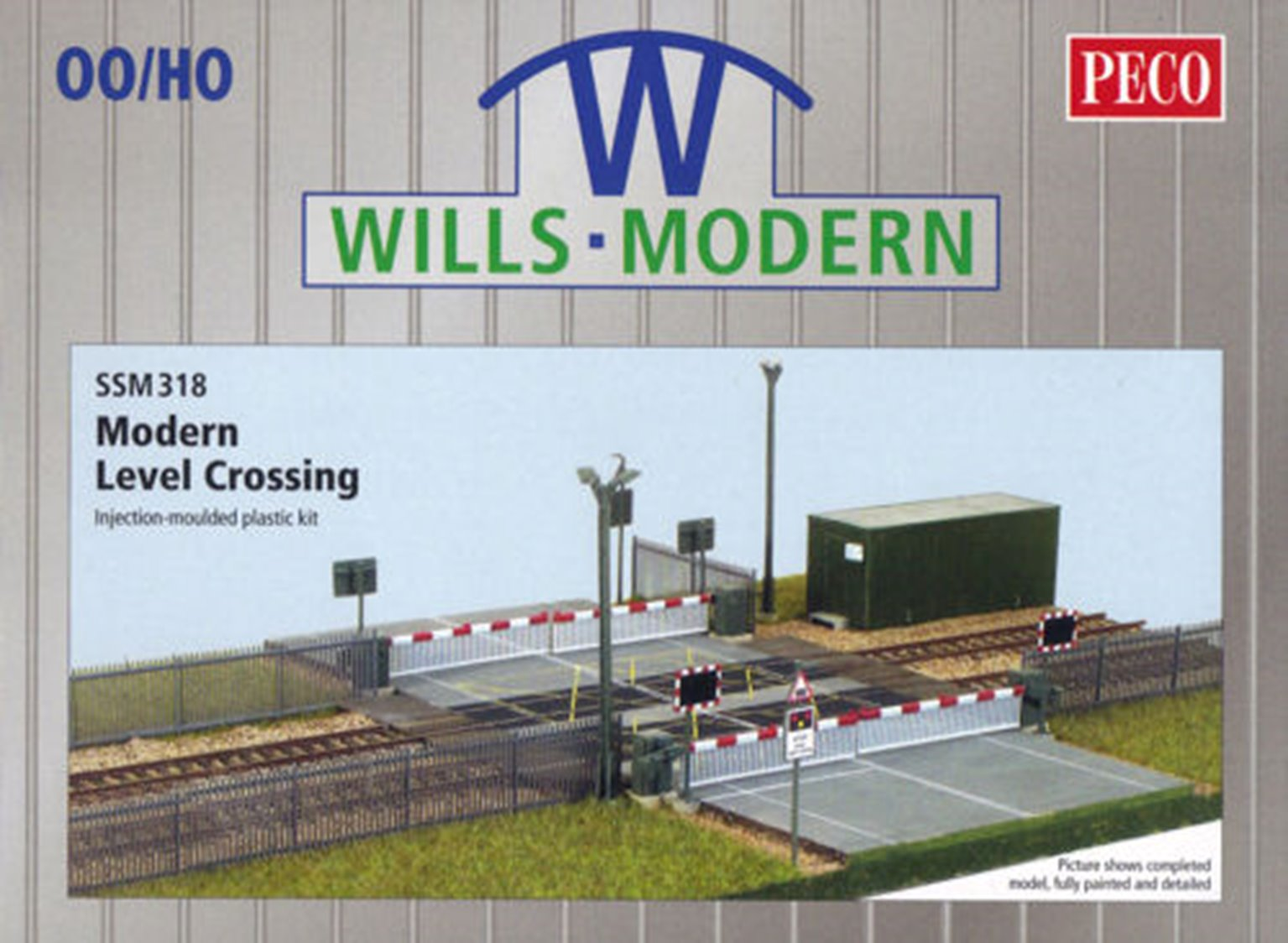 Modern Level Crossing kit with barriers