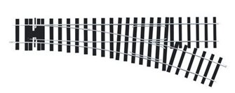 Peco ST-U750 Setrack O Gauge No.2 Radius Turnouts RH