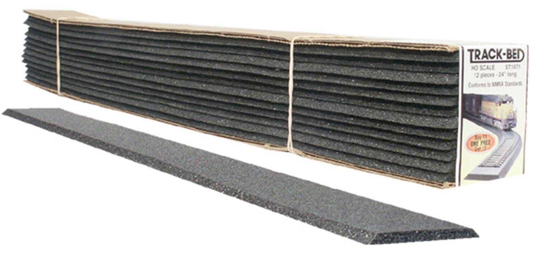 N Scale Trackbed Strips Std 12/Pkg