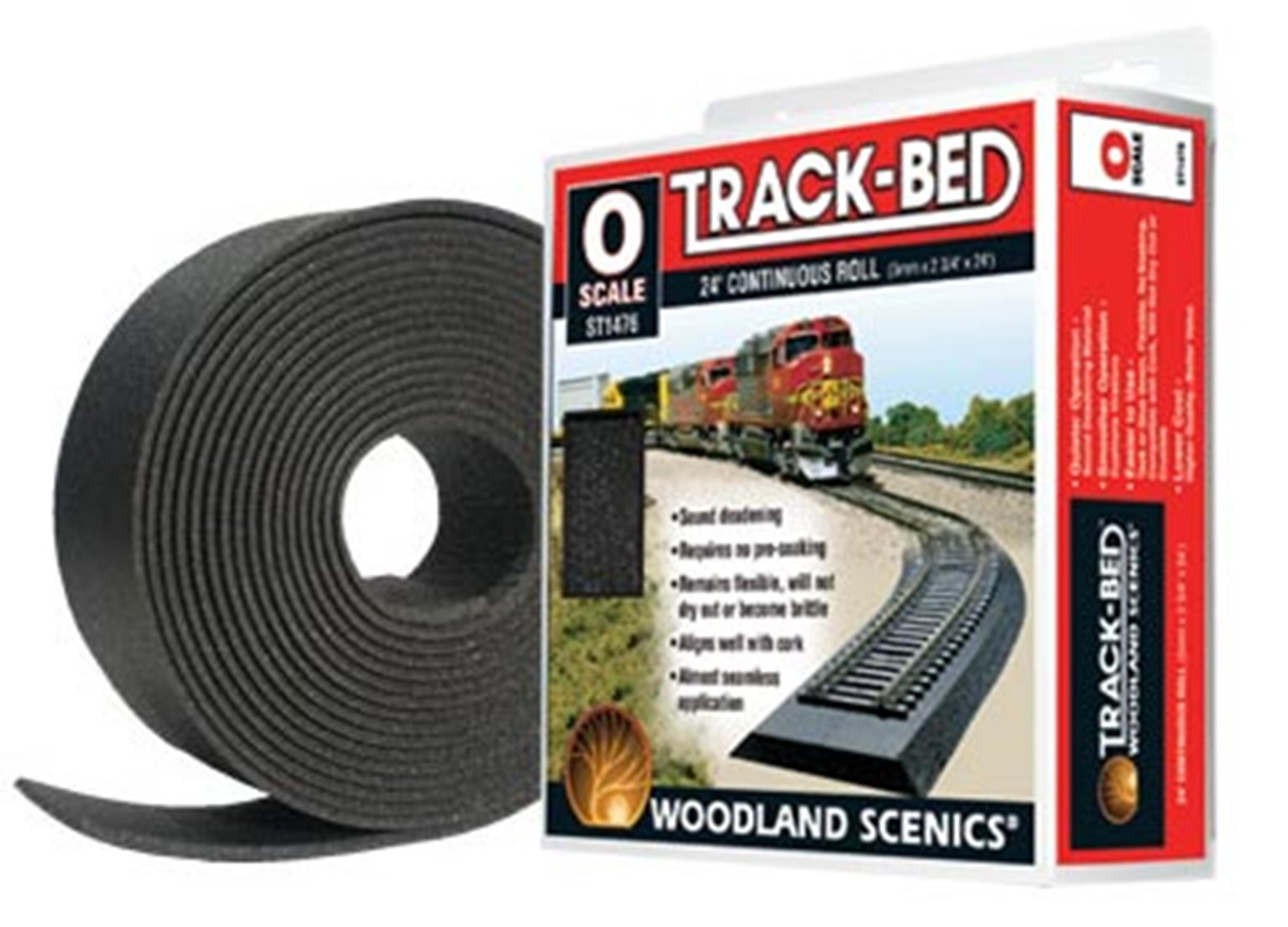O Scale Trackbed Roll 24ft.