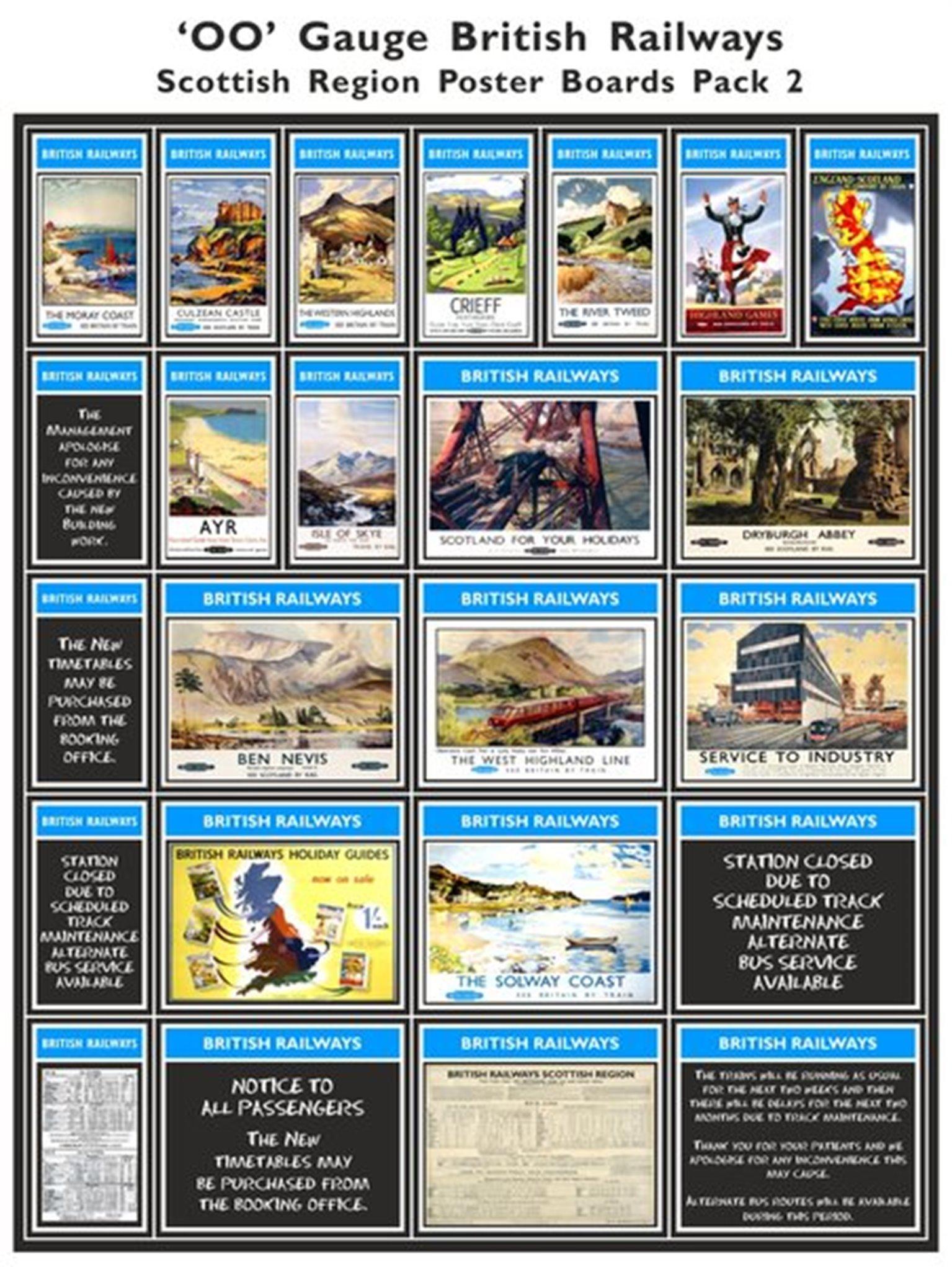 British Railways Scottish Region Poster Boards Pack 2