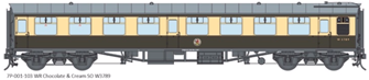 BR WR Chocolate & Cream SO MK1 Coach (Unnumbered)