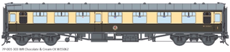 BR WR Chocolate & Cream CK MK1 Coach (Unnumbered)