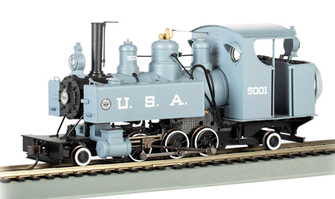 USA #5001 (Builder's Photo Version) 2-6-2T Baldwin Class 10 Trench Engine
