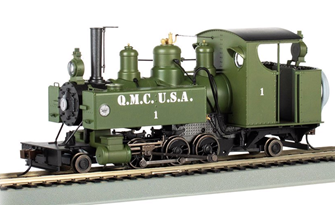 Quartermaster Corps #1 2-6-2T Baldwin Class 10 Trench Engine