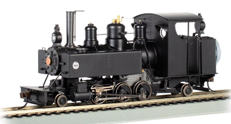Painted, Unlettered - Black 2-6-2T Baldwin Class 10 Trench Engine