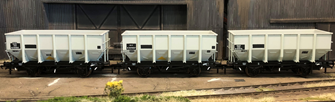 BR 24.5T HOP24/HUO Coal Hopper - Post 1965 Grey TOPS- Pack G