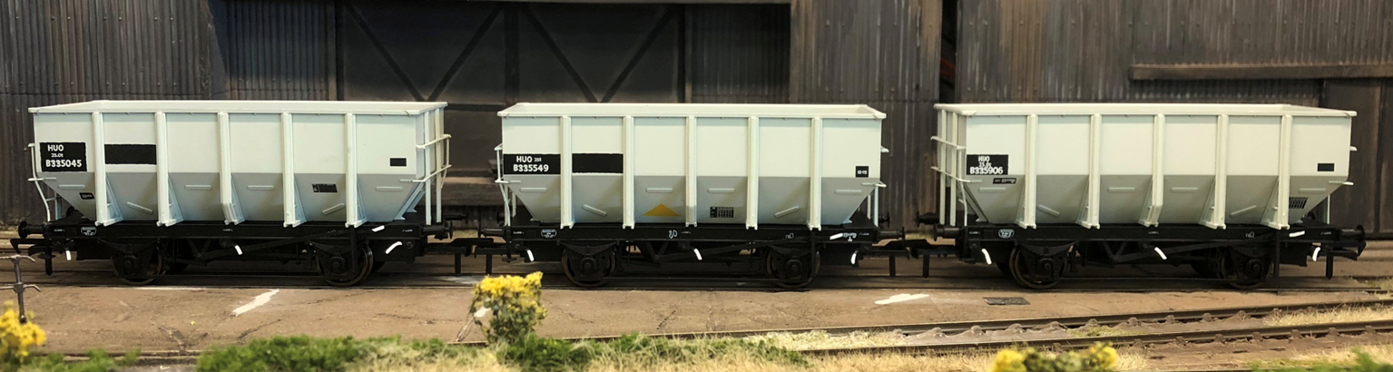 BR 24.5T HOP24/HUO Coal Hopper - Post 1965 Grey TOPS- Pack I