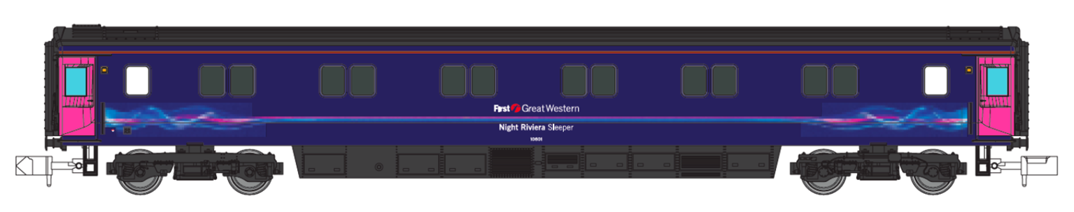 First Great Western FGW Dynamic Lines MK3 Sleeper Coach No.10601