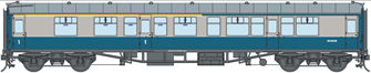 BR Blue/Grey CK MK1 Coach M15928 (DCC Fitted)