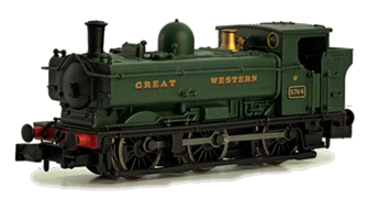 Pannier 8752 GWR Green Great Western Late Cab DCC Fitted
