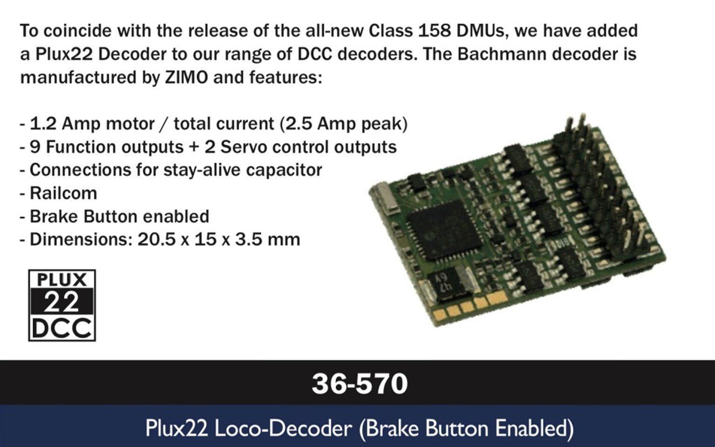 Plux22 Decoder (Brake Button Enabled)