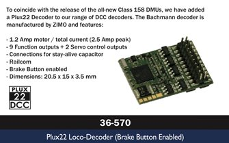 Plux22 Decoder (Brake Button Enabled)