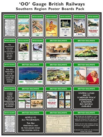 British Railways Southern Region Poster Boards Pack 2