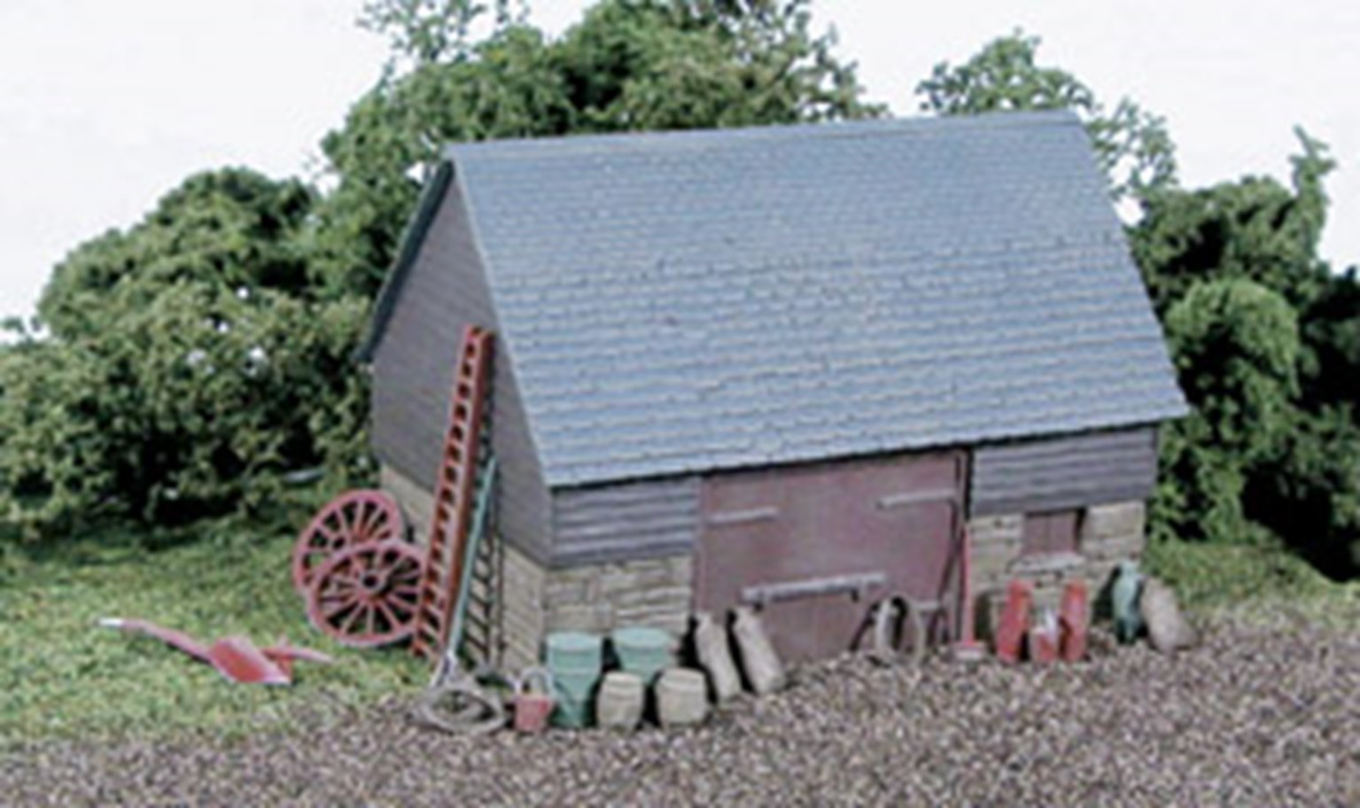 Barn, Stone & timber built type kit