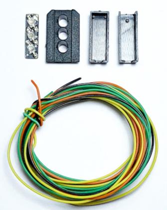 Signal Heads Kit 3 Aspect Distant (Y/G/Y)