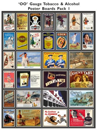 Tobacco & Alcohol Poster Boards Pack 1