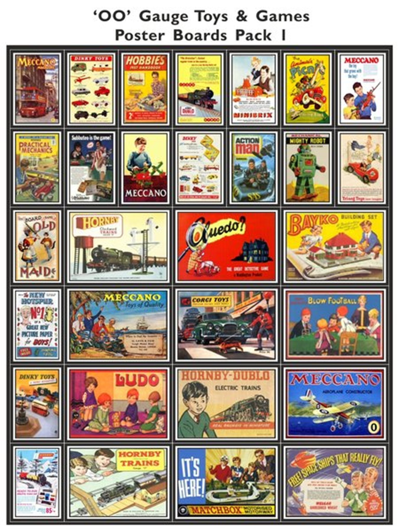 Toys & Games Poster Boards Pack 1