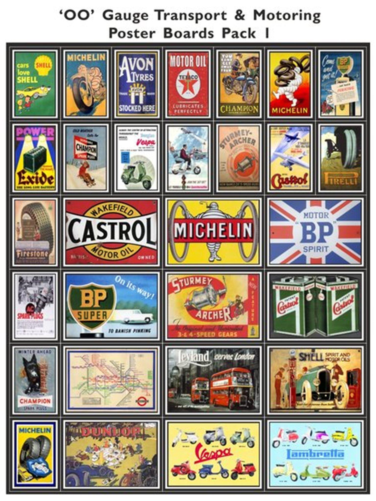 Transport & Motoring Poster Boards Pack 1