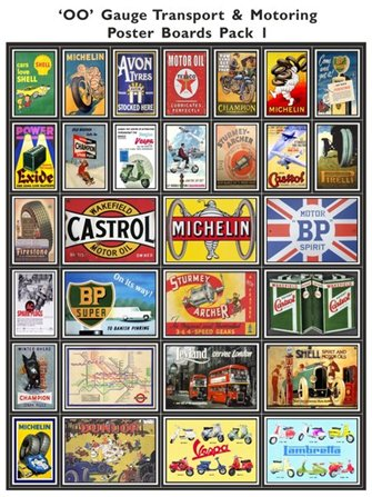 Transport & Motoring Poster Boards Pack 1