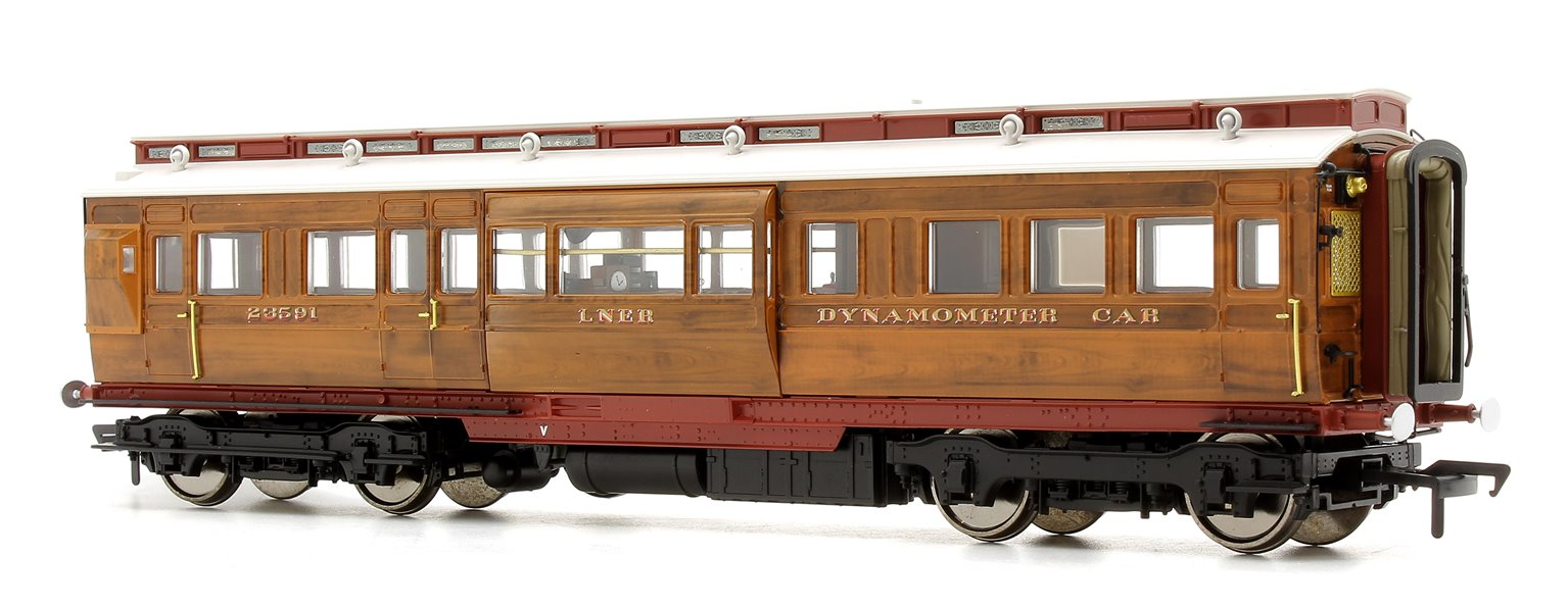 LNER Dynamometer Car - Version 1 LNER teak livery,  as No. 23591, as it was at 3 July 1938 for the Mallard world speed record breaking run