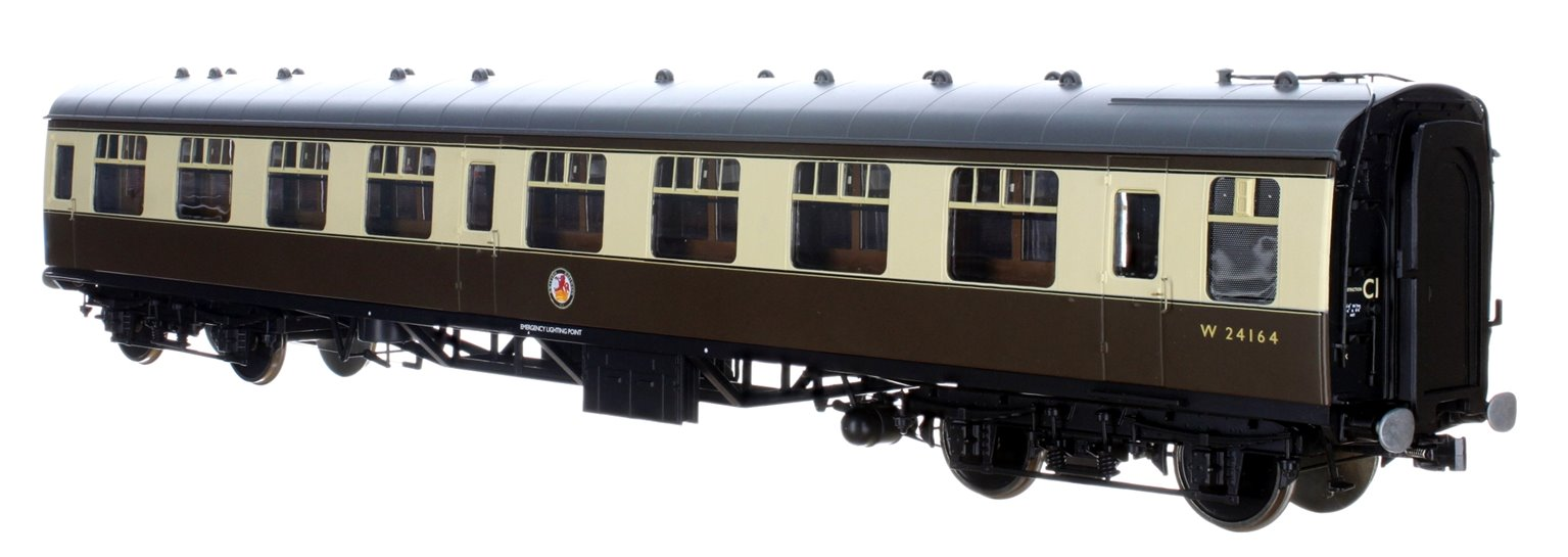 BR WR Chocolate & Cream SK MK1 Coach W24164 (DCC Fitted)