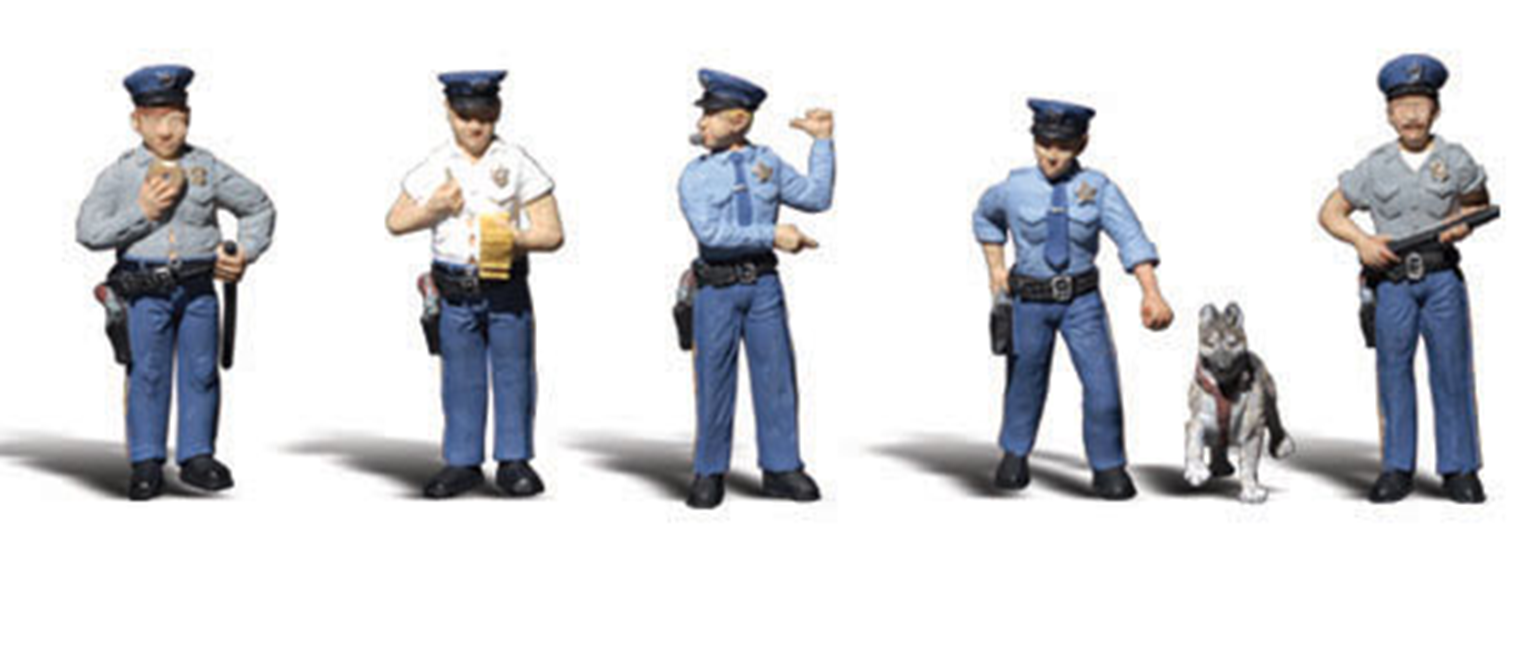 Scenic Accents - Policemen - HO Scale