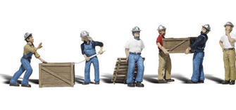 Scenic Accents - Dock Workers - HO Scale