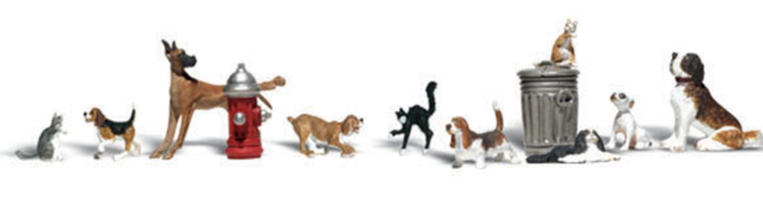 Scenic Accents - Dogs & Cats - HO Scale