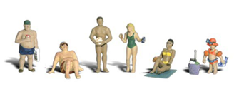 Scenic Accents - Sun Bathers - HO Scale