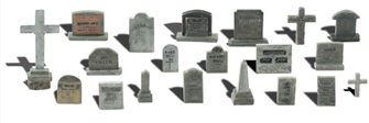 Scenic Accents - Tombstones - HO Scale