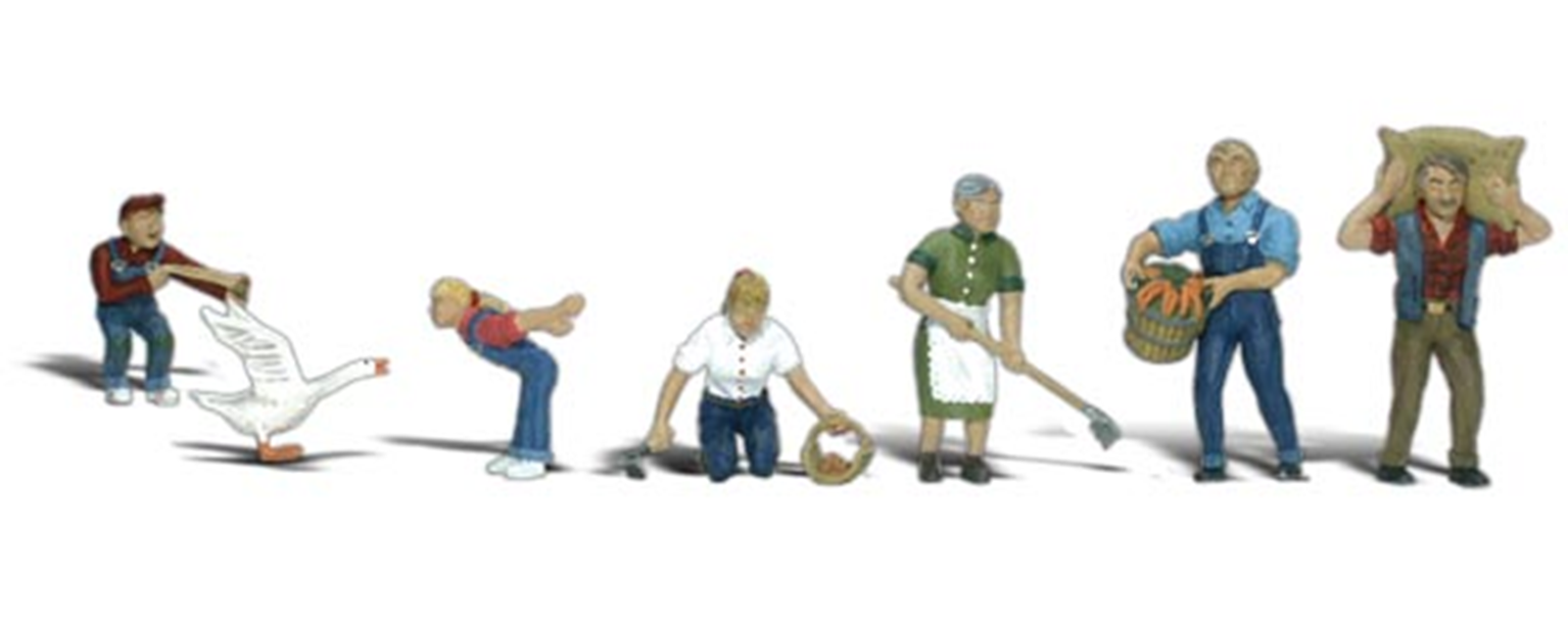 Scenic Accents - Farm People - HO Scale
