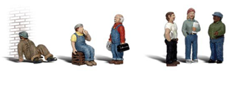 Scenic Accents - Factory Workers - HO Scale