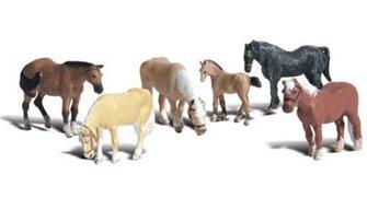 Woodland Scenics WA2141 N Gauge Figures - Farm Horses