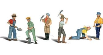 Woodland Scenics WA2148 N Gauge Figures - Track Workers