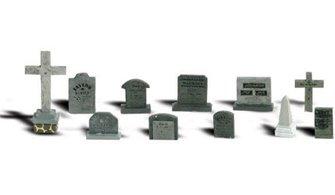 Woodland Scenics WA2164 N Gauge Figures - Tombstones
