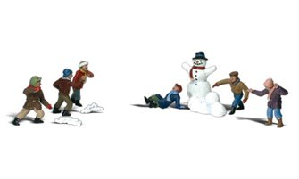 Woodland Scenics WA2183 N Gauge Figures - Snowball Fight