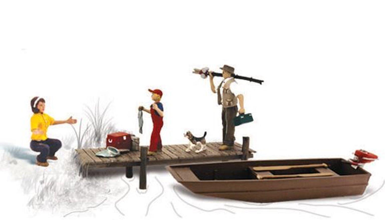 Woodland Scenics WA2203 N Gauge Figures - Family Fishing