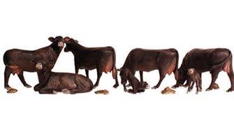 Woodland Scenics WA2217 N Gauge Figures - Black Angus Cows