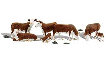 Woodland Scenics - O Gauge Hereford Cows
