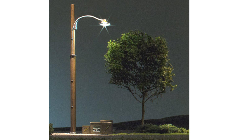 Wooden Pole Street Lights - O Scale