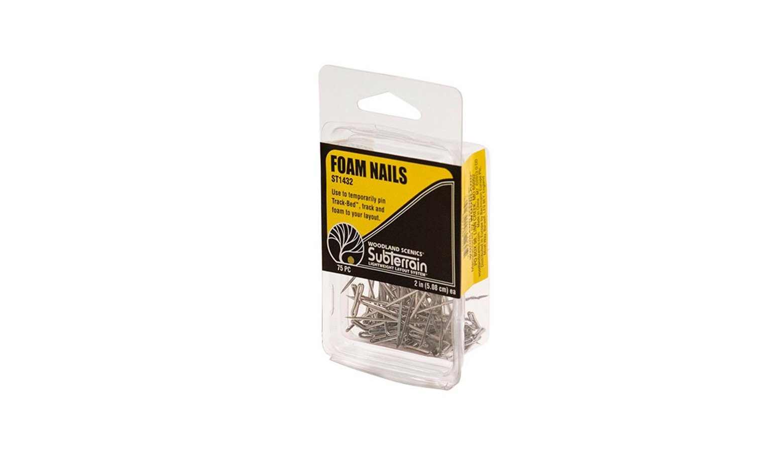 Foam nails - 2 inches (Pack of 75)