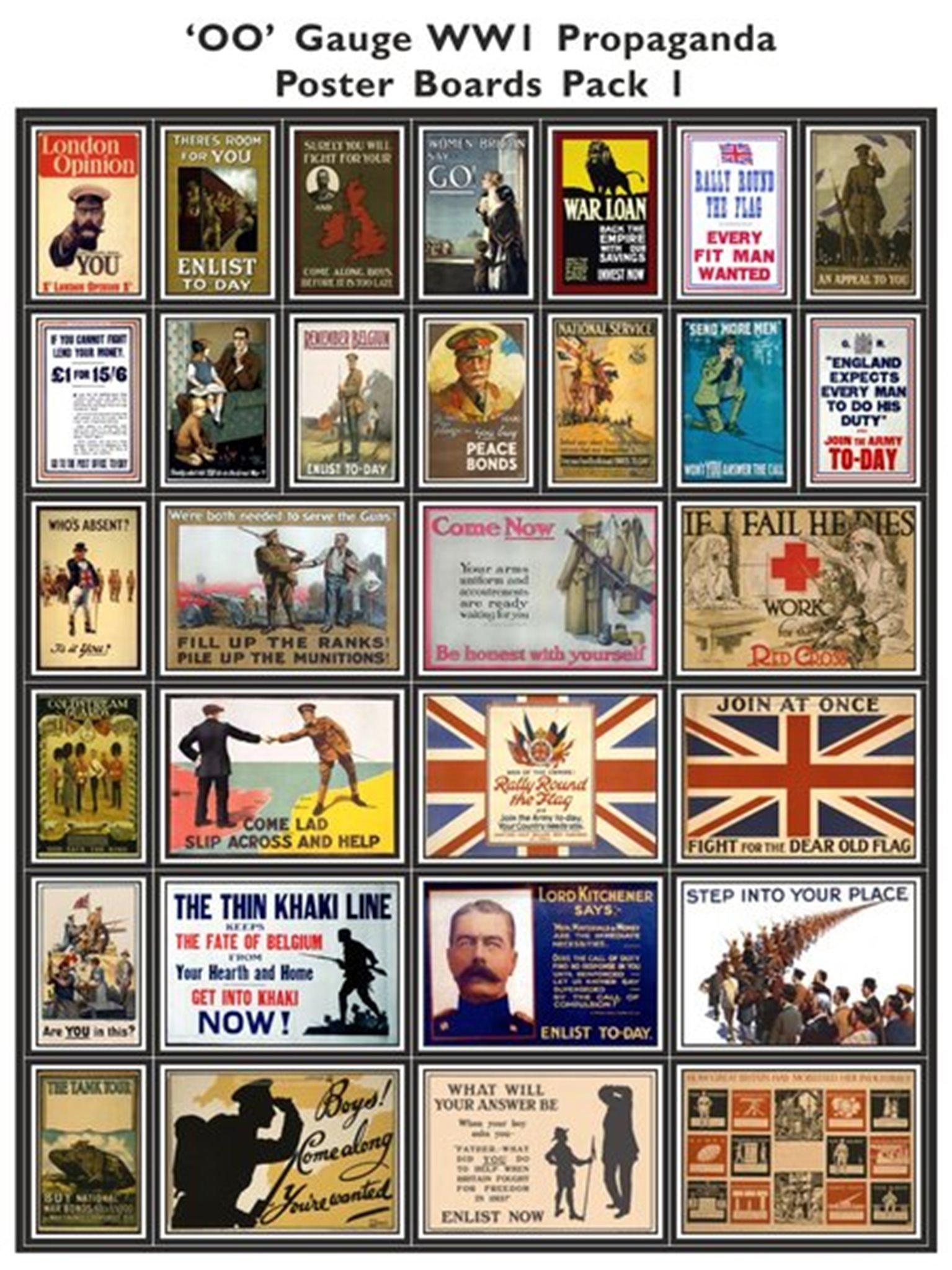 WW1 Propaganda Poster Boards Pack 1