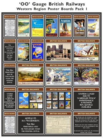 British Railways Western Region Poster Boards Pack 1