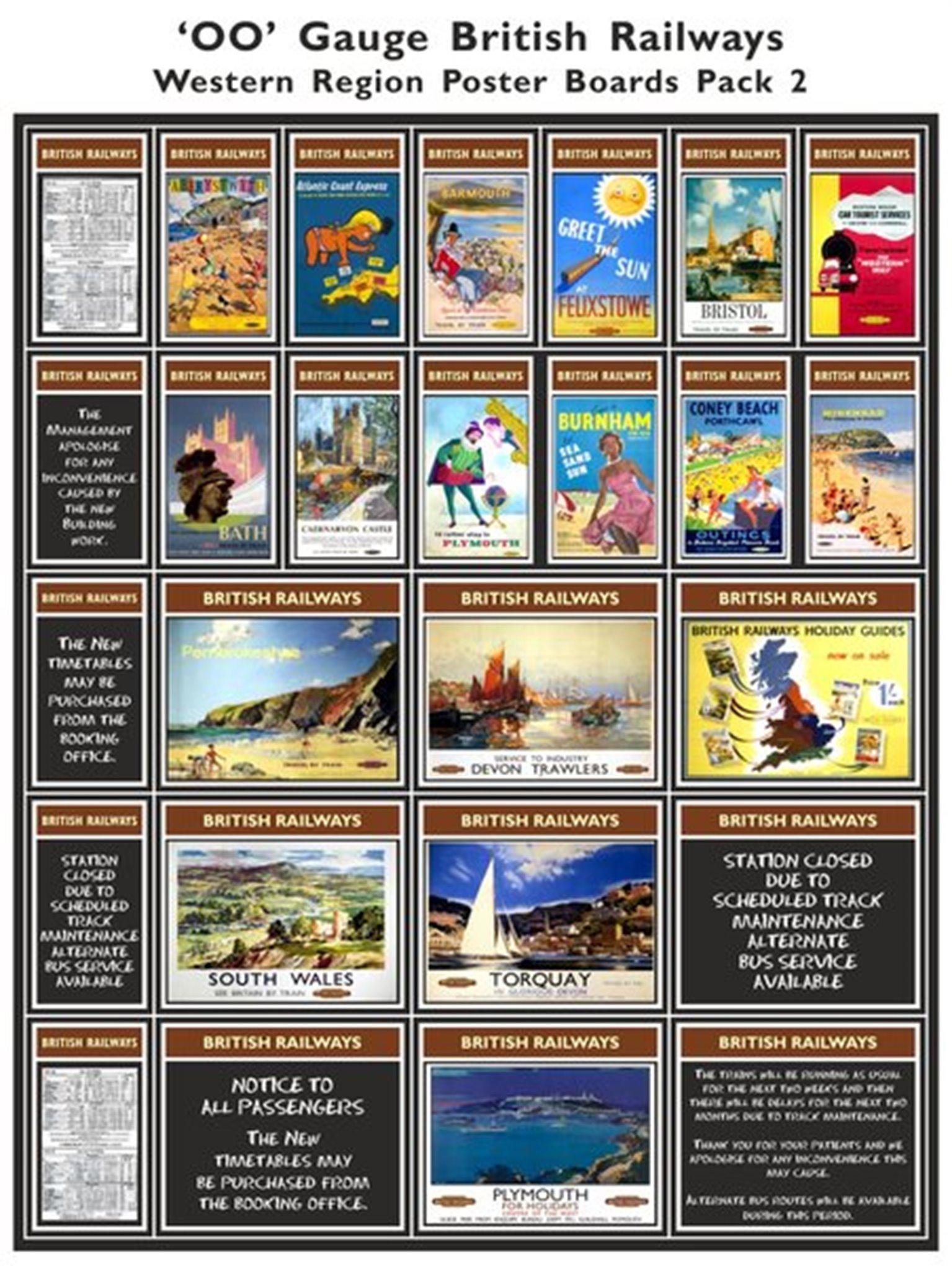 British Railways Western Region Poster Boards Pack 2