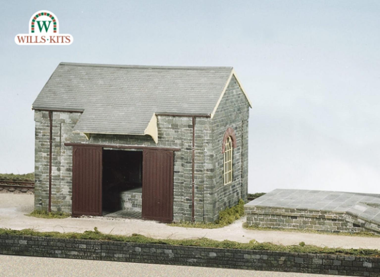 Goods Shed, Loading Bank and Crane Craftsmans Kit
